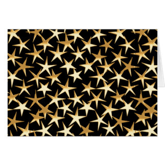 Gold stars on a black background card