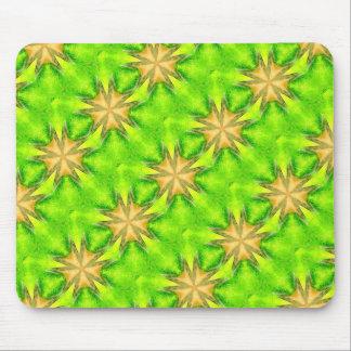 gold stars on green mousepad