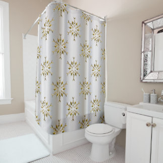 gold and silver shower curtain. Gold Stars On Silver Christmas Shower Curtain Curtains  Zazzle