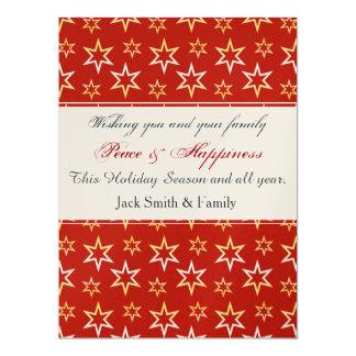 Gold Stars Pattern 6.5x8.75 Paper Invitation Card