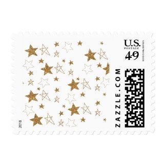 Gold Stars Postage
