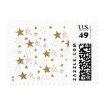 Gold Stars Postage Stamp