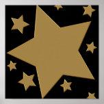 Gold Stars Poster