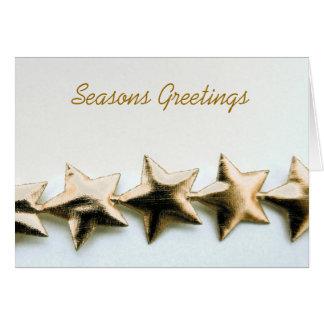 Gold Stars Seasons Greetings Card