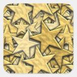 Gold Stars Square Sticker