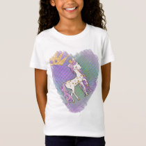 Gold Stars Unicorn Princess T-Shirt