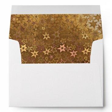 partridgelanestudio Gold Stars with Return Address Envelope
