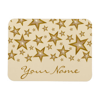"""""""Gold"""" Stars 'Your Name' flexible magnet cream"""