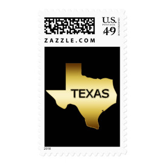 GOLD STATE OF TEXAS STAMP