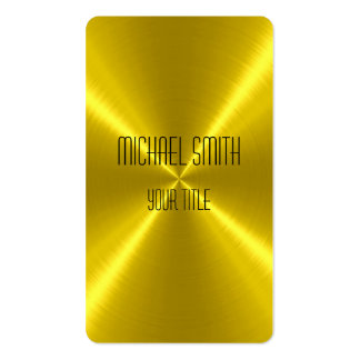 Gold Steel Metal Double-Sided Standard Business Cards (Pack Of 100)