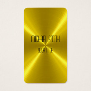 Metallic gold business cards templates zazzle gold steel metal business card colourmoves