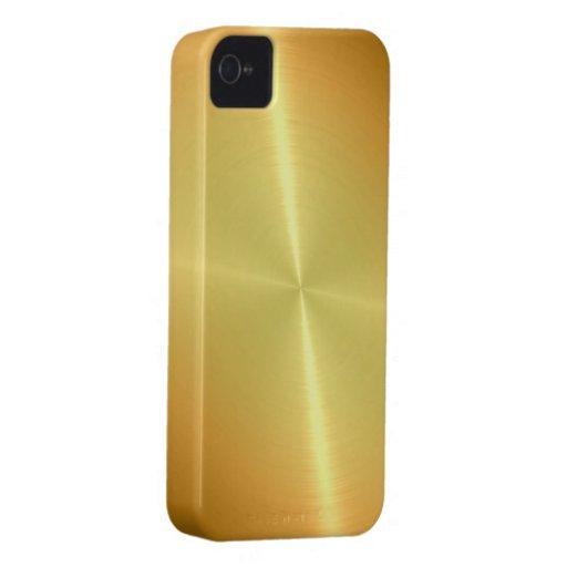 Gold Steel Metal Look iPhone 4 Case-Mate Cases
