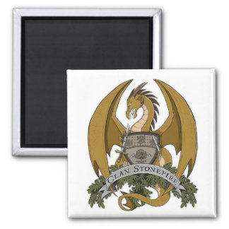 Gold Stonefire Dragon Crest Magnet