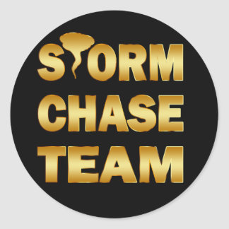 GOLD STORM CHASE TEAM CLASSIC ROUND STICKER