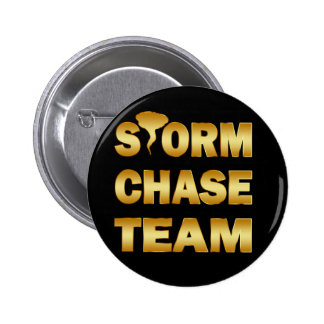 GOLD STORM CHASE TEAM PINBACK BUTTON