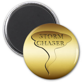 GOLD STORM CHASER 2 INCH ROUND MAGNET