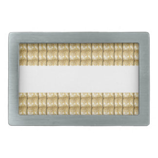 GOLD Strip BLANK Template easy write GREETING TEXT Rectangular Belt Buckle