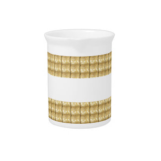 GOLD Strip BLANK Template easy write GREETING TEXT Beverage Pitchers