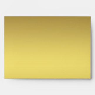 Gold Stripe Black Stripe Envelope