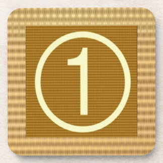 GOLD Stripe - Give away NUMBER ONE Gift Coaster