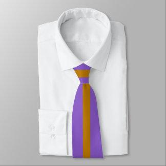 Gold Stripe on Ultra Violet or (Your Color) Neck Tie