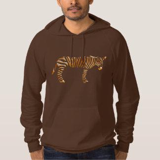 Gold Stripe Zebra Hoodie