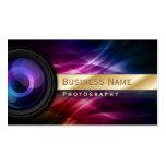 Gold Striped Aurora Photographer business card