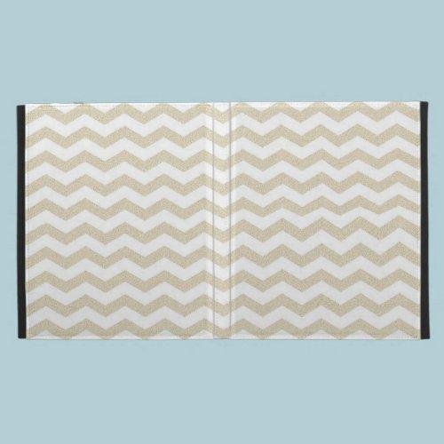 Gold striped chevron zig zag zigzag pattern hipste iPad cases