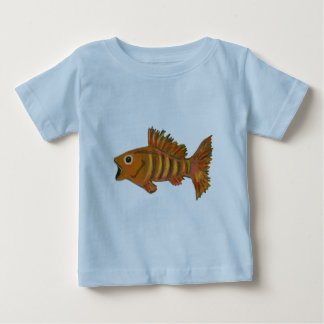 Gold Striped Fish Baby T-Shirt