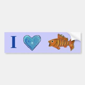 Gold Striped Fish Bumper Sticker