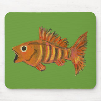 Gold Striped Fish Mouse Pad