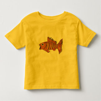 Gold Striped Fish Toddler T-shirt