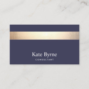 Navy business cards templates zazzle gold striped modern stylish navy blue business card colourmoves