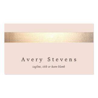 Gold Striped (no shine) Modern Stylish Light Pink Pack Of Standard Business Cards