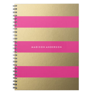 Gold Striped | Notebook