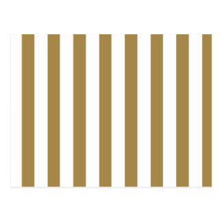 Gold Stripes (Add 2nd Color) Postcard