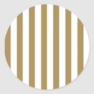 Gold Stripes (Add 2nd Color) Round Sticker