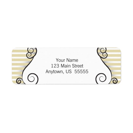 Gold Stripes and Vintage Irongate Swirls Label