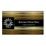 Gold Stripes D2 Add Your Logo Business Cards