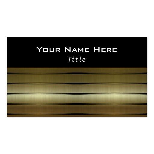 Gold Stripes D3 Contemporary Business Cards