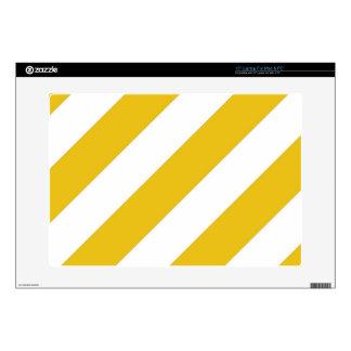 Gold Stripes Laptop Skins