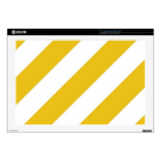 "Gold Stripes Skin For 17"" Laptop"