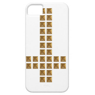 Gold Studded Inverted Cross iPhone 5 Cases