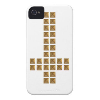 Gold Studded Inverted Cross iPhone 4 Case-Mate Case