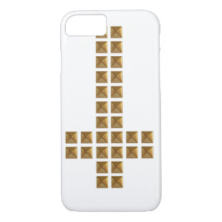 Gold Studded Inverted Cross iPhone 8/7 Case