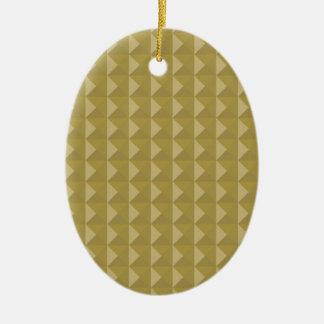 Gold Studded Pyramid Christmas Ornaments