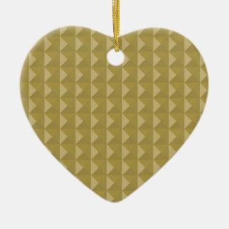 Gold Studded Pyramid Christmas Tree Ornament