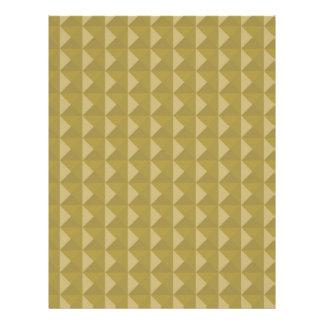 Gold Studded Pyramid Pattern Letterhead Template
