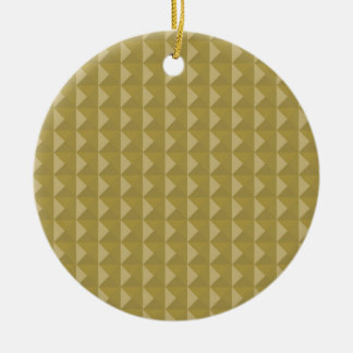 Gold Studded Pyramid Pattern Christmas Tree Ornaments