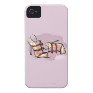 Gold Studded Sandal Stilettos Case-Mate iPhone 4 Case